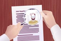 Busca de Job Application /Resume ilustração stock