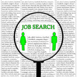 Busca de trabalho ilustração royalty free