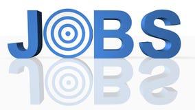 Busca de trabalho do Internet Imagem de Stock