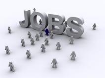 A busca de trabalho moderna Foto de Stock