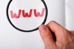 Busca de WWW - procurarando o conceito do Internet Imagem de Stock Royalty Free