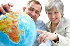Busca do globo foto de stock royalty free