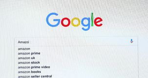 Busca do Search Engine de Google para Amazonas vídeos de arquivo