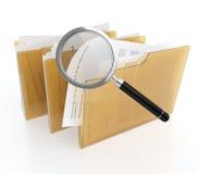 Busca dos arquivos ilustração stock