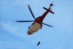 Busca e helicóptero do salvamento imagens de stock royalty free