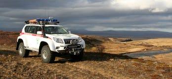Busca e veículo de socorro Fotografia de Stock Royalty Free