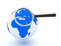 Busca global ilustração stock
