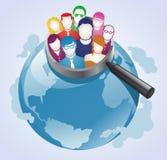 Busca global do cliente ilustração royalty free