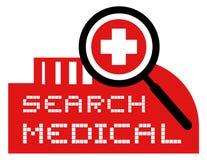 Busca médica Imagens de Stock