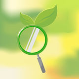 Busca orgânica da folha da lente da natureza Ilustração Stock