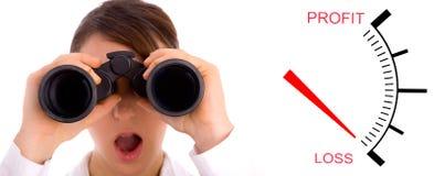 Busca para o dinheiro Imagens de Stock