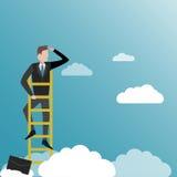 Busca para oportunidades Ilustração do negócio no vetor ilustração stock