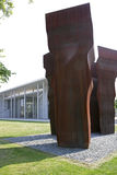 Buscando la Luz in front of the Pinakothek der Moderne Museum in. Art by Eduardo Chillida, Buscando la Luz, in front of the Pinakothek der Moderne museum, Munich Royalty Free Stock Photography