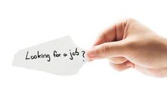 ¿Buscar un trabajo? Foto de archivo libre de regalías