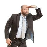 Buscas do homem de negócio Fotografia de Stock Royalty Free