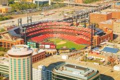 Busch baseballstadion i St Louis, MO Arkivbilder