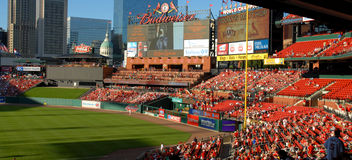 Busch Stadium. Image taken of a St Louis Cardinals game at Busch Stadium Stock Image