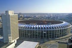 Busch Stadium i stadens centrum St Louis, MO arkivbilder