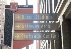 Busch Stadium, im Stadtzentrum gelegenes St. Louis, Missouri Stockbild