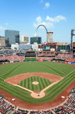 Busch Stadium in Saint Louis. SAINT LOUIS, MO – JULY 7: Busch Stadium during game between the St. Louis Cardinals and the Miami Marlins on July 07, 2012 royalty free stock photography