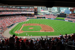 Busch Stadium in St. Louis. ST LOUIS - MAY 23: The Saint Louis Cardinals playing against the Kansas City Royals at Busch Stadium in St. Louis, MO on May 23, 2009 royalty free stock photos