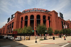 Busch Stadium - St. Louis Cardinals. Downtown city ballpark with classic brick architecture style Stock Image