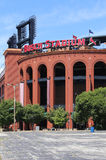 Busch Stadium. St. Louis, MO, USA - August 21, 2015: Busch Stadium in St. Louis, Missouri. Busch Stadium is a ballpark and the home field of Major League stock images