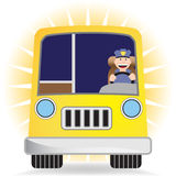 Buschauffeur met Bus Royalty-vrije Stock Fotografie