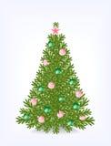 Buschiger Weihnachtsbaum Stockbilder