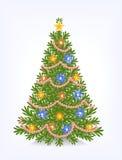 Buschiger Weihnachtsbaum Lizenzfreie Stockfotografie