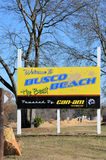 Busco Beach Welcome Sign Stock Photos