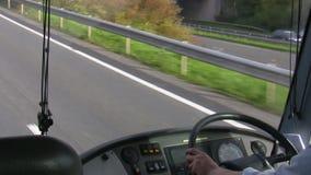 Busdashboard stock videobeelden