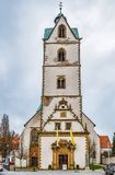 Busdorf kyrka, Paderborn, Tyskland fotografering för bildbyråer