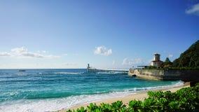 Busena marine park. Okinawa, Japan - October 24, 2016: Beach and Sea View at Bucena marine park located at cape Bucena Okinawa, Japan Stock Photos