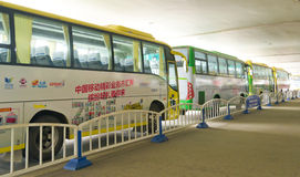 Buses. In airpot of chengdu,china Royalty Free Stock Photo