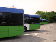 Buses in the depot Royalty Free Stock Photo
