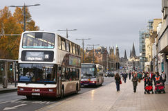 Buses in Edinburgh Stock Photo