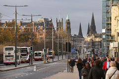Buses in Edinburgh Stock Image
