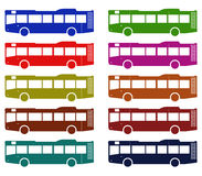 Buses illustrated Stock Photos