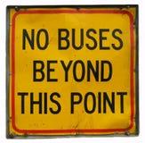 buses inget tecken Fotografering för Bildbyråer