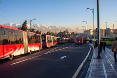 Buses of local mass transport Royalty Free Stock Photography