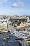 Buses Near Christiansborg Palace in Copenhagen, Denmark, editorial Stock Photography