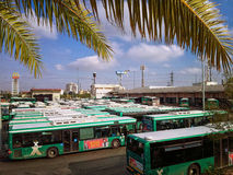 Buses in the parking area Royalty Free Stock Photos