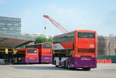 Buses parking at the station in Bugis, Singapore Stock Image
