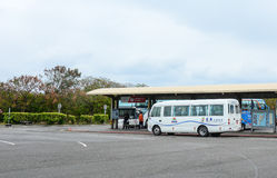 Buses parking at the station in Chiayi, Taiwan.  Royalty Free Stock Photos