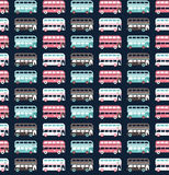 Buses pattern Stock Photo