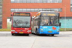 Buses at the railway station Royalty Free Stock Photography