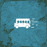 Buses school vintage abstract grunge background Stock Photos