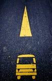 Busfahrstreifen Stockbild