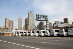 Busgarage in New York Royalty-vrije Stock Afbeelding